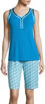 Liz Claiborne Sleeveless Top and Bermuda Shorts Pajama Set