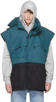 Vetements Black and Green Stoner Transformable Parka Vest