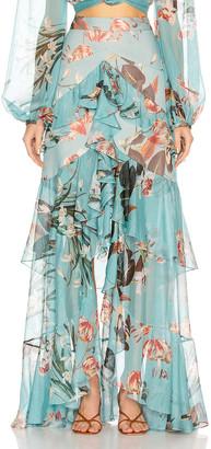PatBO Carolina Hi Low Maxi Skirt in Blue | FWRD