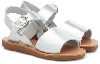 Ancient Greek Sandals Kids Little Kaliroi metallic leather sandals