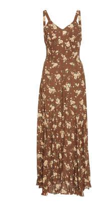Michael Kors Crushed Flare Silk Tank Dress