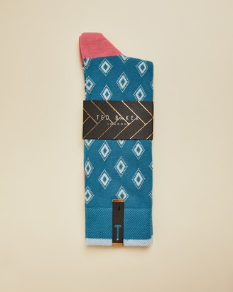 Ted Baker BRIDLNG Geo cotton socks