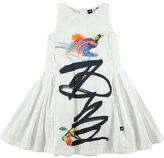 Molo Cassia Graffiti Bird-Print Dress