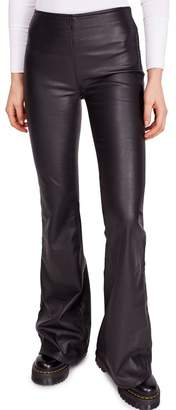 Free People Penny Flared Vegan Faux Leather Pants