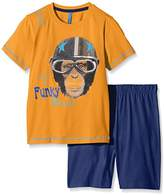 Lenny Sky Boy Monkey Pyjamas Set – - Orange -