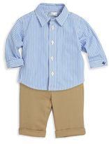 Ralph Lauren Baby's Two-Piece Striped Button-Down Shirt & Wool Pants Set