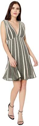 M Missoni Zoned Lurex Sleeveless Dress (Pink) Women's Clothing