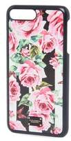 Dolce & Gabbana Rose Print Leather iPhone 7 Plus Case