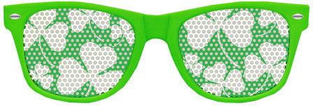 Glasiz Three Leaf Clover Wayfarer Green