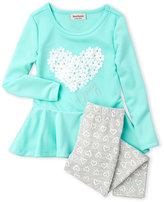 juicy couture (Girls 4-6x) 2-Piece Floral Heart Top & Leggings Set