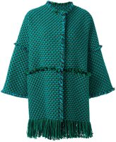 Gianluca Capannolo woven raw edge coat - women - Acrylic/Polyamide/Virgin Wool - 40