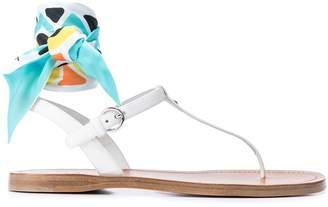 Prada ankle tie sandal