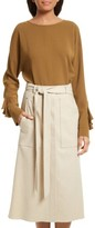 Tibi Women's Ruffle Sleeve Dolman Top