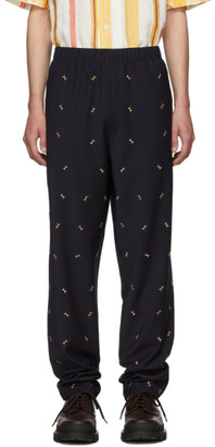 Tibi SSENSE Exclusive Navy Ant Pull On Trousers
