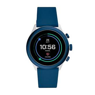 Fossil Men's Sport Heart Rate Metal and Silicone Touchscreen Smartwatch