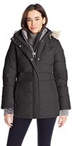 Free Country Women's Bib Down Coat with Waist Channel Quilt Detail