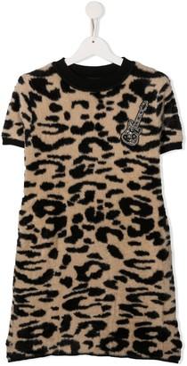 John Richmond Junior TEEN leopard print dress