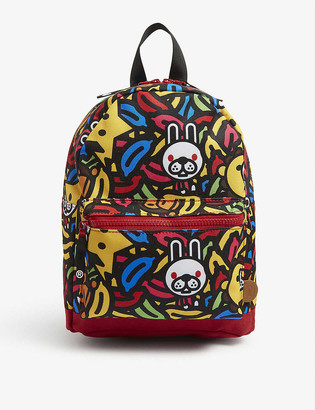 A Bathing Ape Kids Milo banana pool backpack