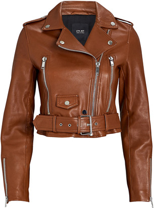 LTH JKT Mya Cropped Leather Moto Jacket
