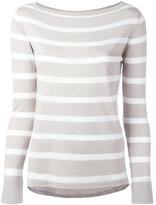 Eleventy striped jumper - women - Silk/Merino - S