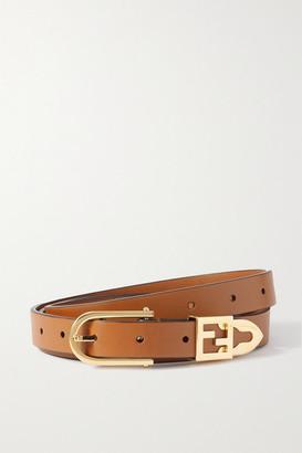 Fendi Leather Belt - Brown