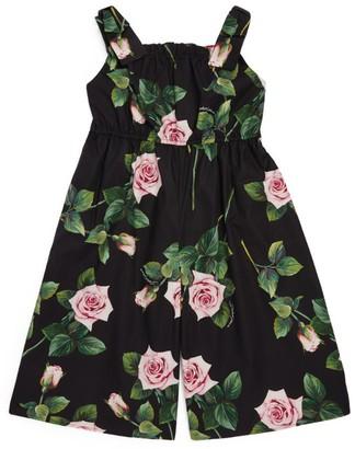 Dolce & Gabbana Kids Rose Print Jumpsuit