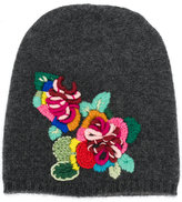 Ermanno Scervino floral embroidered beanie hat - women - Cashmere/Virgin Wool - One Size