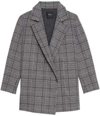 Theory Clairene Weston Plaid Jacket