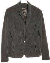 CNC Costume National Grey Velvet Jacket for Women