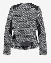 IRO Leather Detail Tweed Jacket