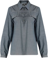 A.P.C. Cindy striped cotton blouse