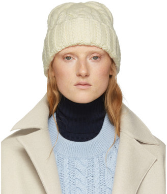 Ami Alexandre Mattiussi Off-White Wool Knit Beanie