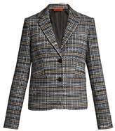 Missoni Checked wool-blend knit blazer