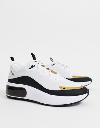 Nike white black and gold Air Max Dia sneakers