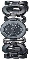 XOXO Women's XO5207 Dial Gun Metal Open Link Bracelet Watch