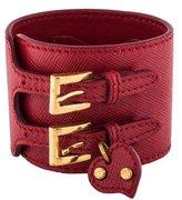 Prada Leather Cuff Bracelet