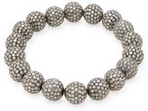 Artisan Silver & 21.90 Total Ct. Diamond Ball Bracelet