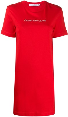 Calvin Klein Jeans logo printed T-shirt dress