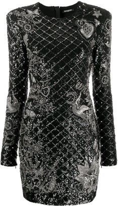 Balmain sequin embellished short dress