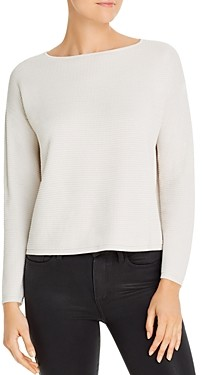 Eileen Fisher Cropped Waffle-Knit Sweater