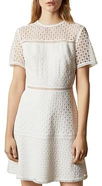Ted Baker Allara Short-Sleeve Lace Mini Dress