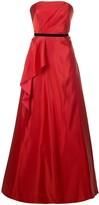 Marchesa draped belted evening dress