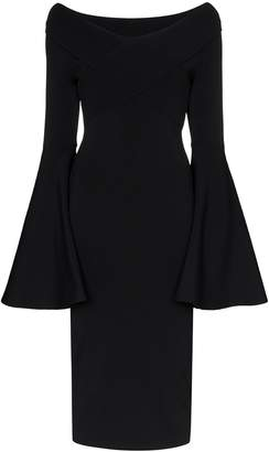 SOLACE London Ophira knit midi dress