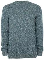 Topman Blue Twist Crew Neck Sweater