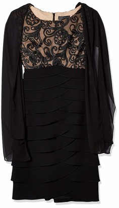 Jessica Howard JessicaHoward Women's Lace Bodice Dress with Scarf