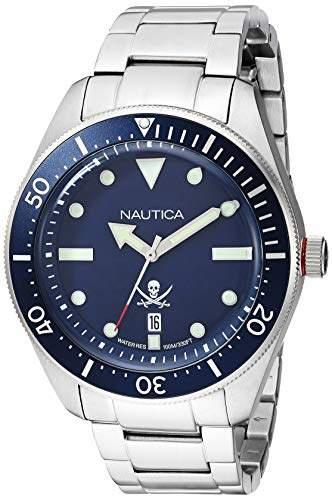 Nautica Men's Hillcrest Japanese-Quartz Watch with Stainless-Steel Strap