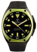 Avio Men's SA BK 1003 Super Tonneau Black PVD Steel Case Aluminum Interchangeable Bezel Watch