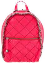Stella McCartney Quilted Shaggy Deer Mini Falabella Backpack w/ Tags