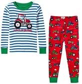 Hatley Green Stripe Farm Tractor Applique Pyjamas