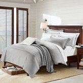 Deep Sleep Home 3pc Cotton Sateen 60s Duvet Cover Set, 2 Shams, 350 Thread Count, Silver Embroidered Design, Solid Grey Background, Double Full, Queen Size (Queen, Grey)